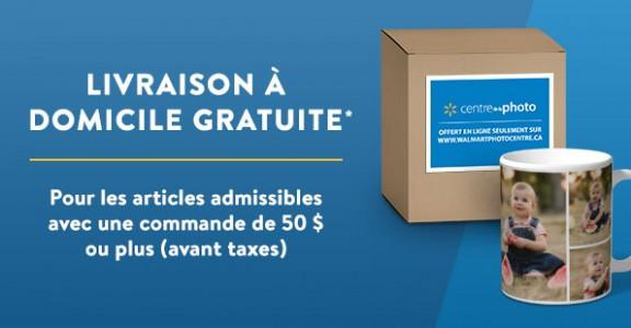 pour les articles admissibles avec une commande de 50$ ou plus (avant taxes).