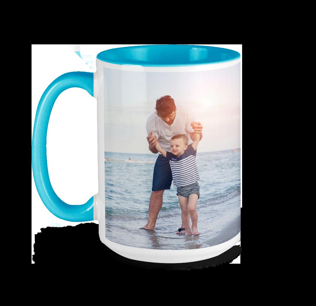 Tasse avec photo de 15 onces - Bleu