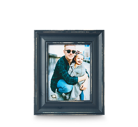 6x8 Blue Distressed Frame