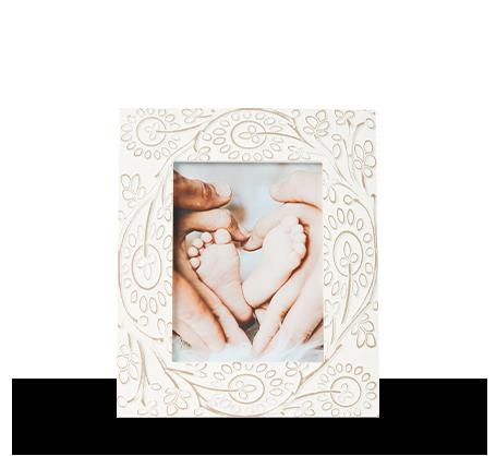 6x8 Carved Floral Frame