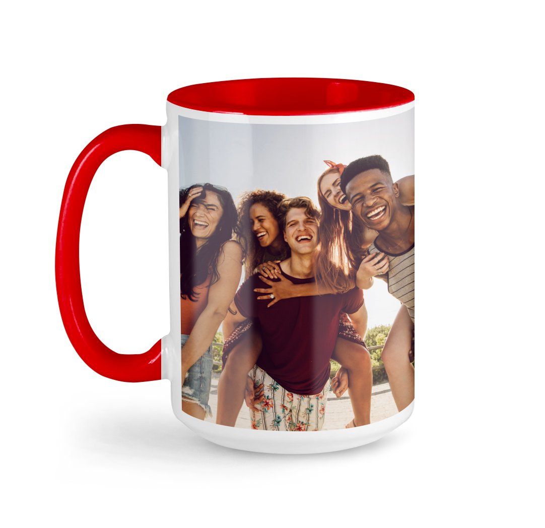 Tasse avec photo de 15 onces - Rouge