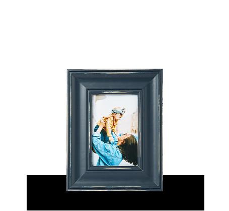4x6 Blue Distressed Frame