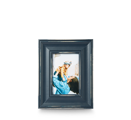4x6 Blue Distressed Frame