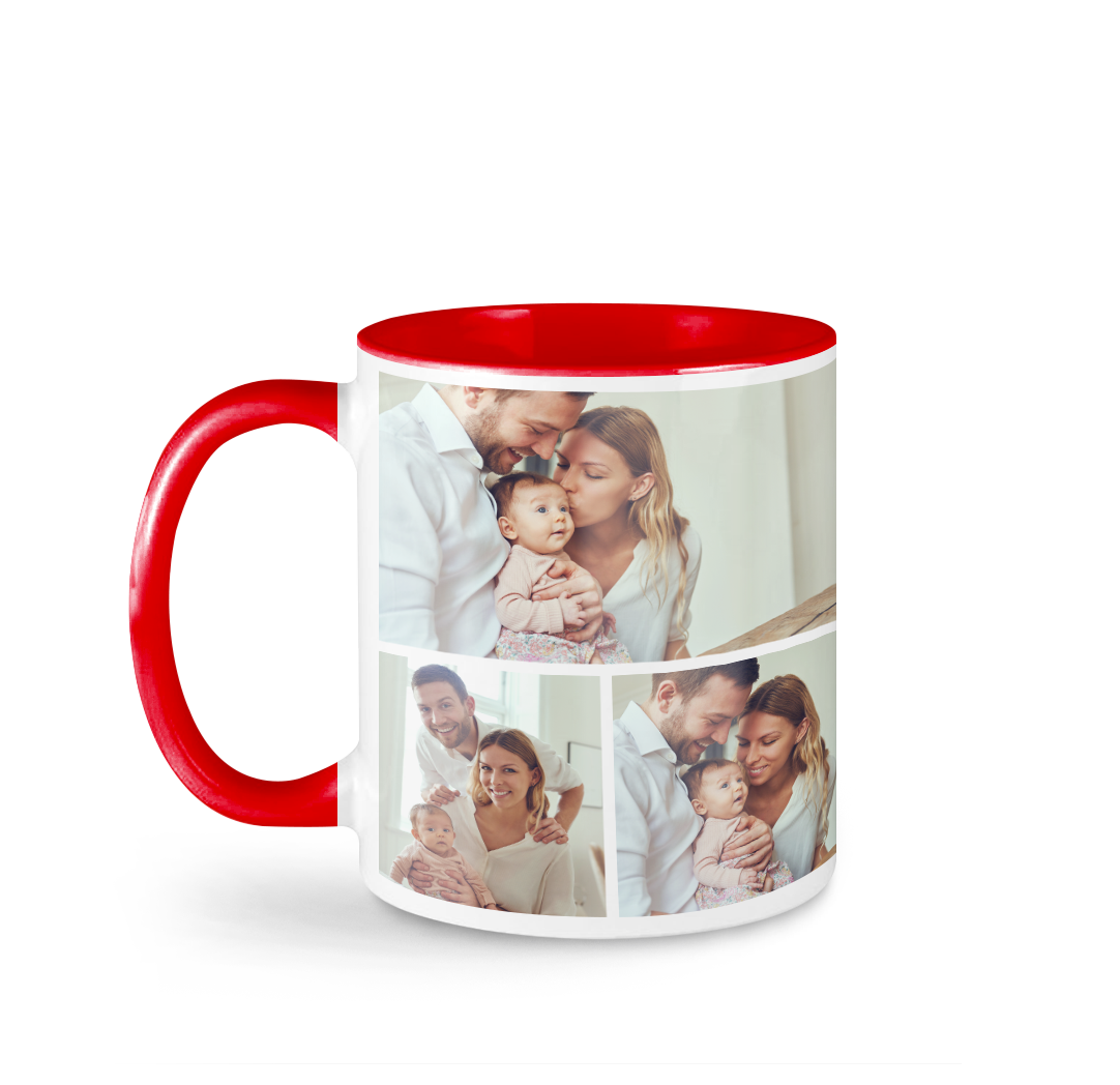Tasse avec photo de 11 onces - Rouge