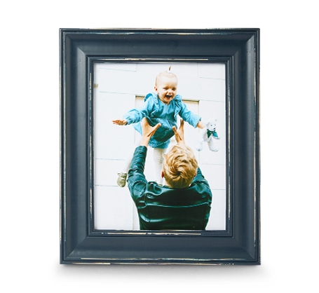 8x10 Blue Distressed Frame