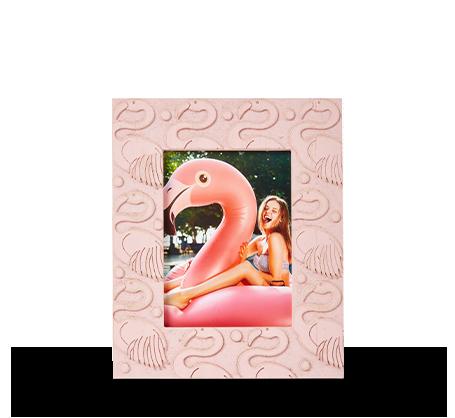 6x8 Carved Flamingo Frame