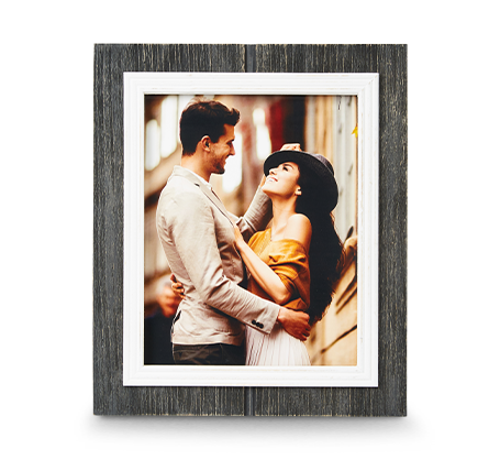 8x10 Black Rustic Frame