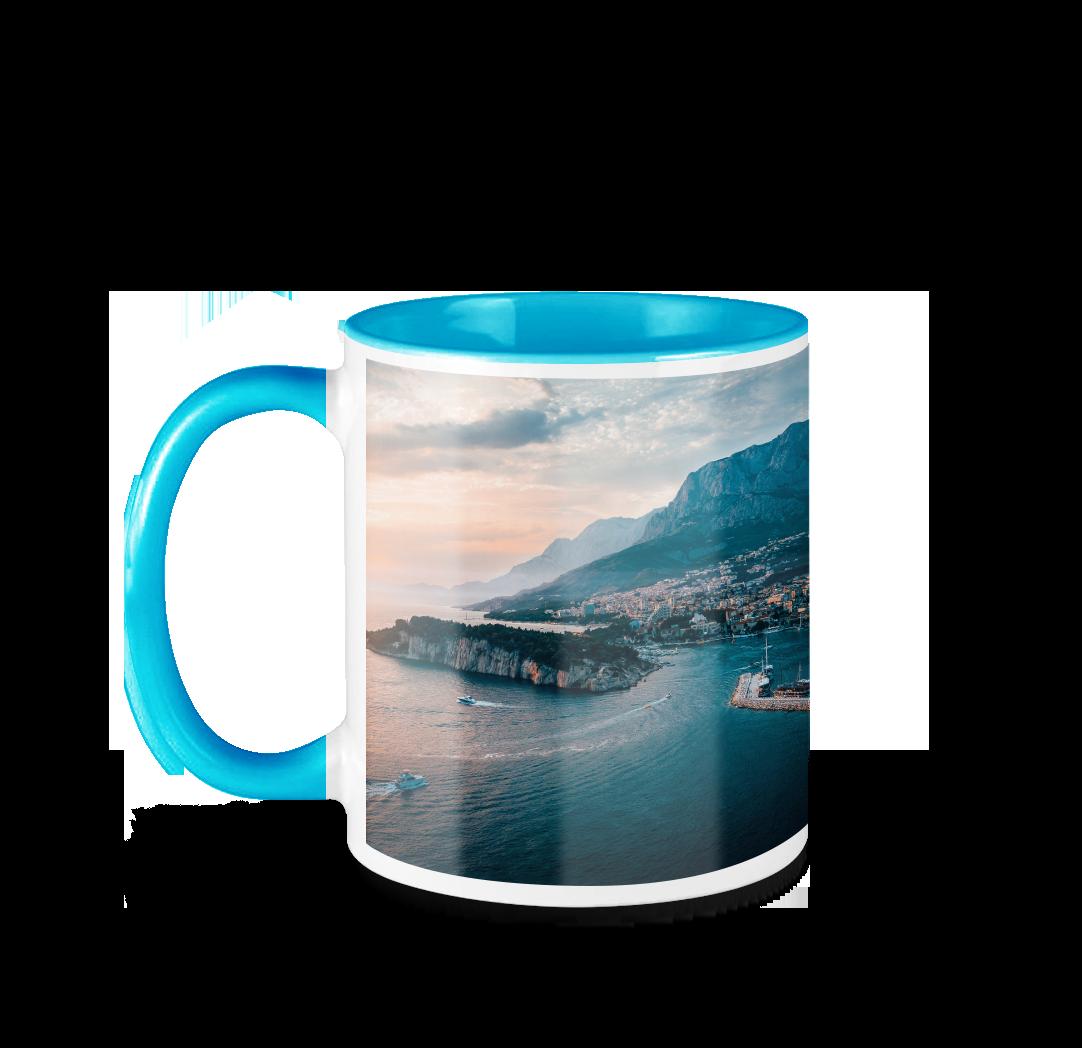 Tasse avec photo de 11 onces - Bleu
