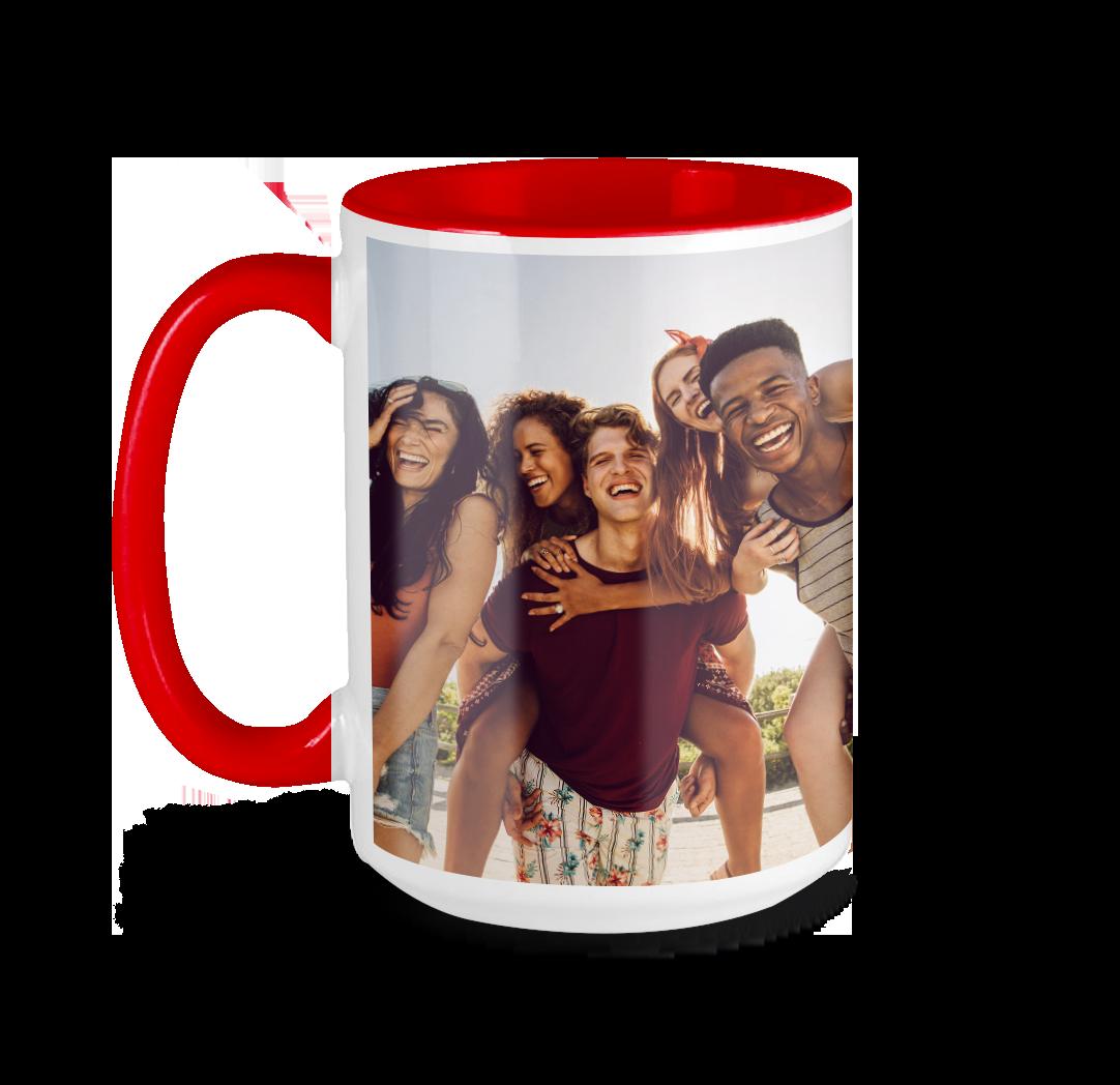 Tasse avec photo de 15 onces - Rouge