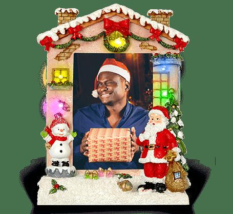 Cadre de Noël à DEL de 4 x 6po