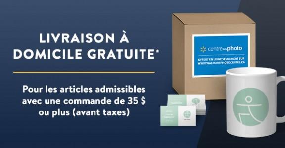 pour les articles admissibles avec une commande de 35$ ou plus (avant taxes).