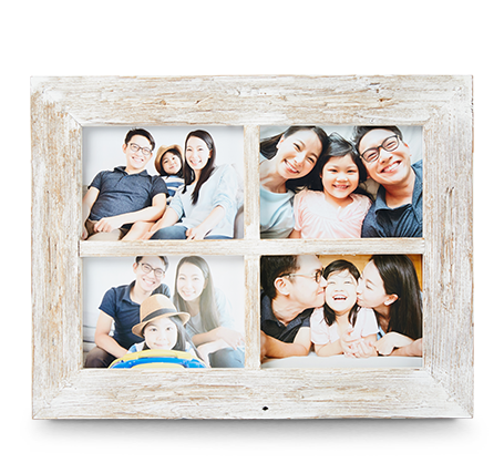 5x7 White Rustic Frame (4)