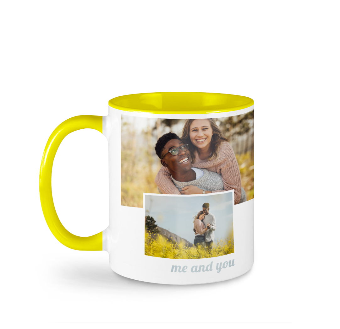 Tasse avec photo de 11 onces - Jaune
