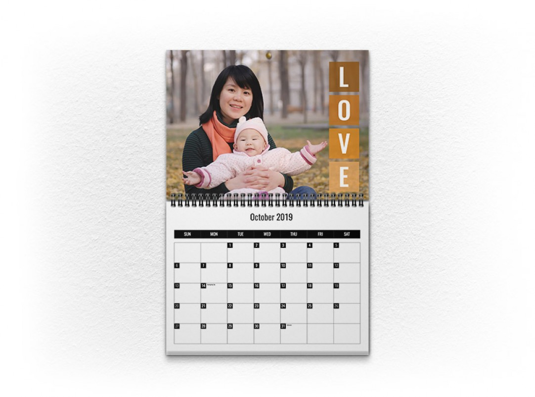 walmart photo centre wall calendar