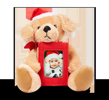 Plush Santa Dog