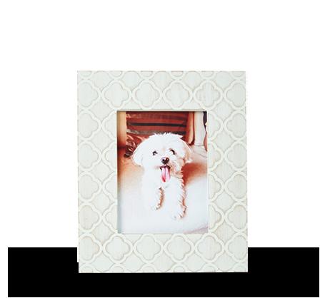 6x8 Mint Carved Damask Frame