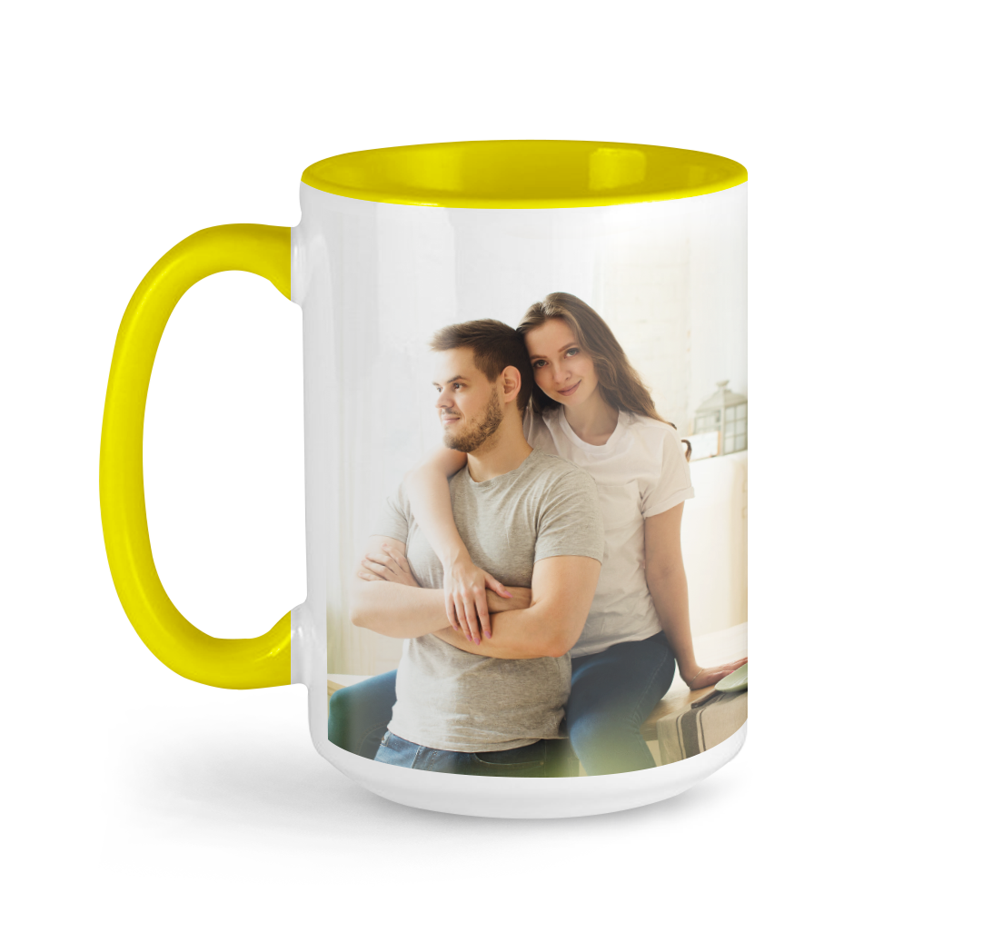 Tasse avec photo de 15 onces - Jaune