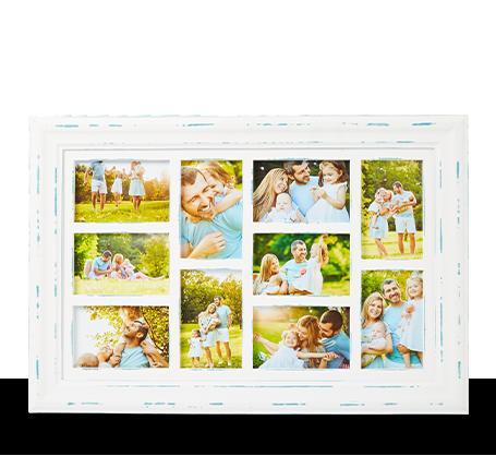 4x6 White Distressed Frame (10)