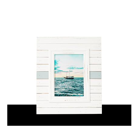 Cadre à rayures horizontales 5 x 7 po